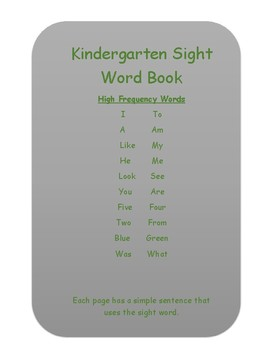 My Sight Word Book
