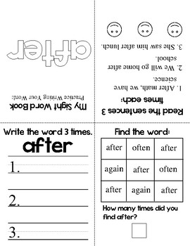 My Sight Word Book - Dolch Sight Words (1st Grade)