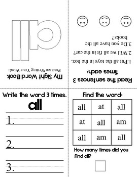 My Sight Word Book - Dolch Sight Words (Primer)