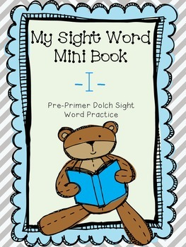 My Sight Word Book - I
