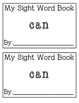 My Sight Word Book: can