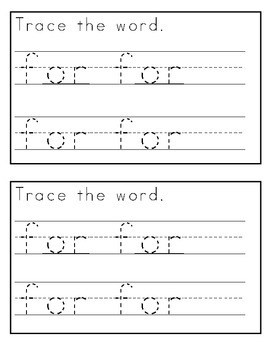 My Sight Word Book: for