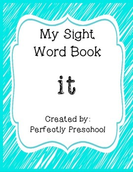 My Sight Word Book: it