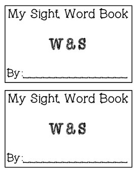 My Sight Word Book: was