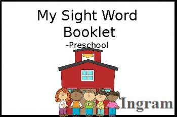 My Sight Word Booklet