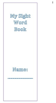 My Sight Word Check-Off Book - Houghton Mifflin