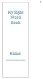 My Sight Word Check-Off Book - Houghton Mifflin
