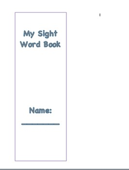 My Sight Word Check-Off Book - Open Court
