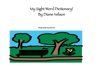 Sight Word Student Dictionary!