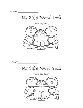 My Sight Word Emergent Reader (write, big, hand)
