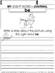My Sight Word Journal Writing Prompts Level-A {Literacy packet NO PREP}