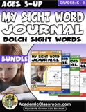 My Sight Word Journal Writing Prompts {Literacy packet NO