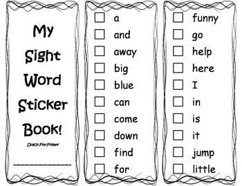 All Worksheets » Pre Primer Sight Word Worksheets - Printable ...