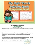 My Sight Words Coloring Book-Pre-primer level- free version