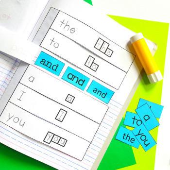 Sight Words Interactive Notebook: Pre-Primer List