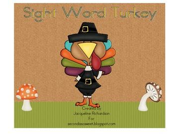 My Sight word Turkey