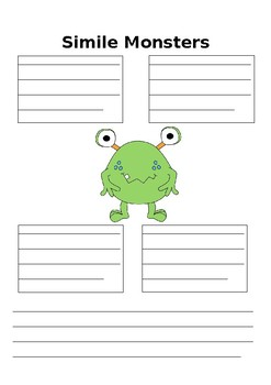 Simile Activity: My Simile Monsters