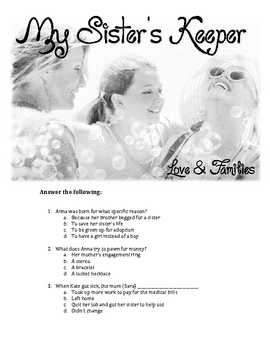 My Sister's Keeper Movie Questions