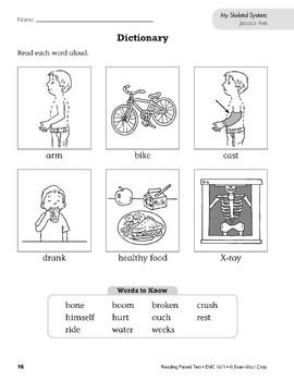 My Skeletal System (Reading Paired Text)