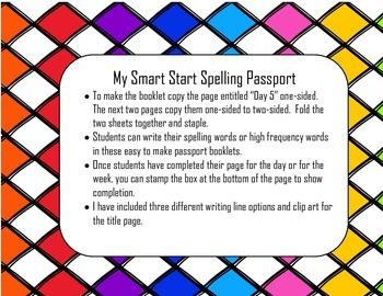 My Smart Start Spelling Passport