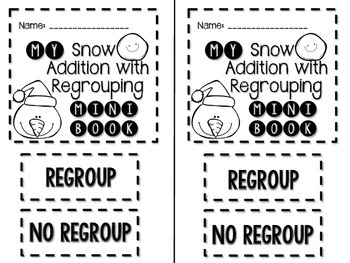 My Snow Addition with Regrouping Mini Book FREEBIE