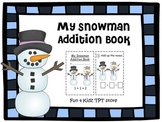 My Snowman Addition Mini Book