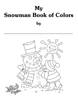 My Snowman Book of Colors