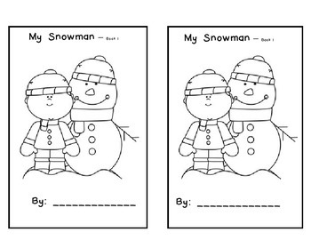 My Snowman - Emergent Reader