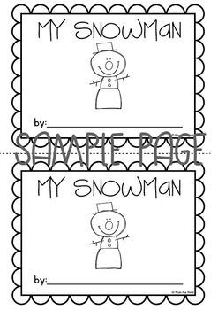 My Snowman Emergent Reader