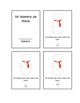 My Snowman Mini-Book in English and Spanish