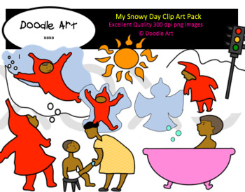 My Snowy Day Clipart Pack