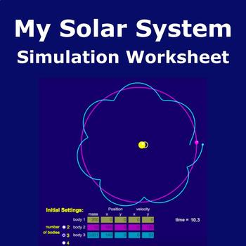 My Solar System Simulation Worksheet MS-ISS1-2