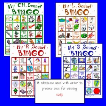 My Sound Bingo Ch, Sh, L