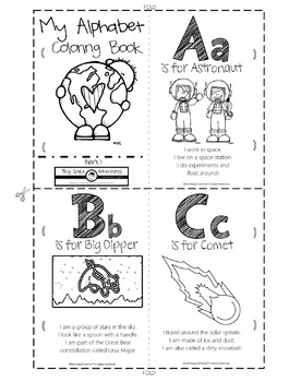 My Space Alphabet: Letter Recognition, Identification & Practice (Common Core)