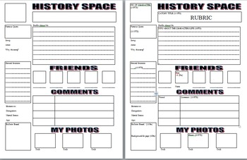 History Space: Social Media Spoof Use With Any Historical Character