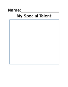 My Special Talent