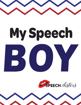 My Speech Boy Speech Pathway and Fluency/Stuttering Lesson