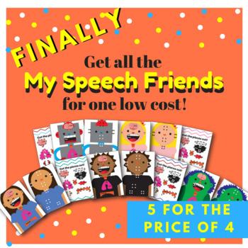 My Speech Friend Speech Pathway and Fluency/Stuttering Lesson BUNDLE!