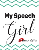 My Speech Girl Speech Pathway and Fluency/Stuttering Lesson
