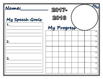 My Speech Goals Sheet