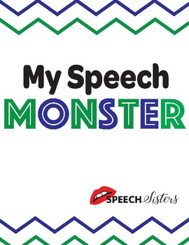 My Speech Monster Speech Pathway and Fluency/Stuttering Lesson