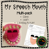 My Speech Mouth Printable Craft, Game and Labeling Activity