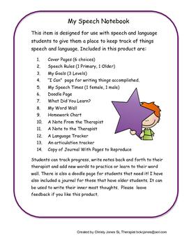 My Speech Notebook (Revised Version)