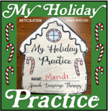 My Holiday Speech Therapy Practice Book: Articulation