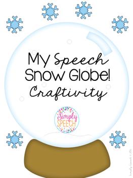 My Speech Snow Globe FREE!