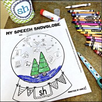 Speech Snowglobes - Articulation & Phonemic Awareness Craft for Winter