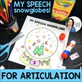 Speech Snowglobes - Articulation & Phonemic Awareness Craf