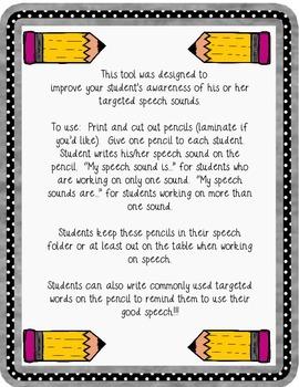 """My Speech Sound"" pencils"