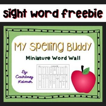 My Spelling Buddy Spelling Aide Miniature Word Wall