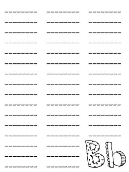 My Spelling Dictionary--Blank Page Layouts A-Z--FREE